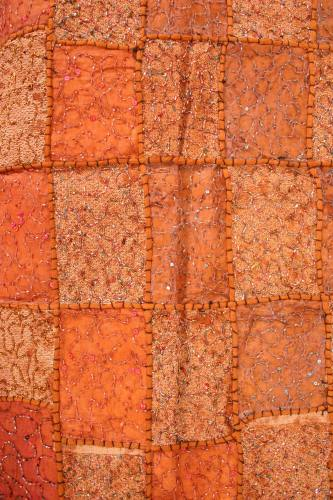 Brown patchwork wallhanging