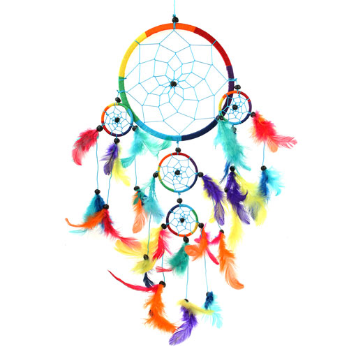 Dreamcatcher rainbow 17cm