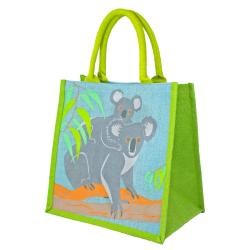 Jute shopping bag, koalas