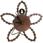 Bike chain clock, flower shape