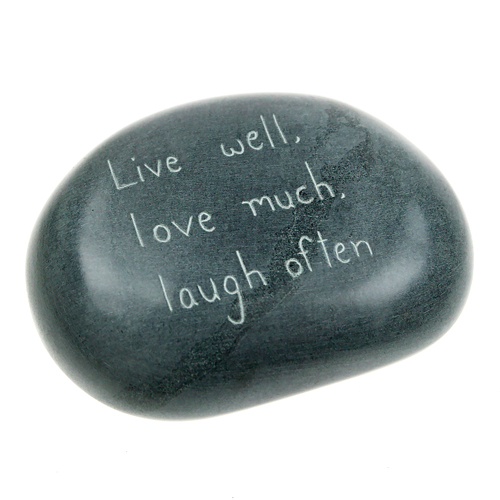Paperweight, palewa stone, Live well, love much...