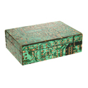 Wooden box, recycled circuit board, 15.5x10.5x5cm