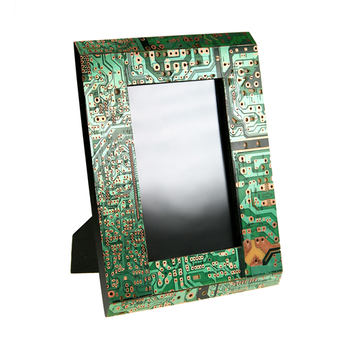 Photo frame, recycled circuit board, 21.5x16.5cm