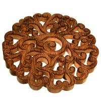 Trivet, mango wood, swirly pattern