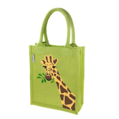 Jute shopping bag, small, giraffe