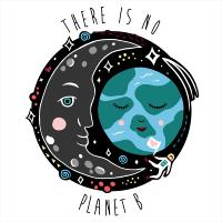 "Greetings card ""There is no Planet B"" 16x16cm"