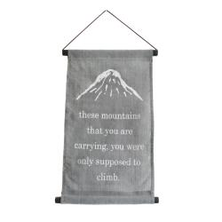 Banner 23x40cm, These Mountains, grey