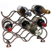 Wine rack, recycled bike chain, for 10 + 3 bottles