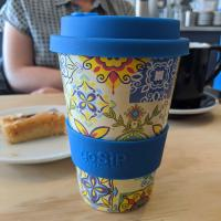 Reusable travel cup, biodegradable, tiles - Cadiz