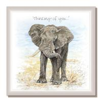 "Greetings card, ""Thinking of you"", Ron's Elephant"